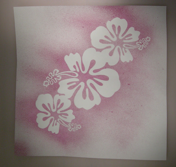 Experimenting with stencilling