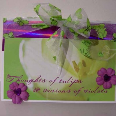 Thoughts of tulips & visions of violets Card