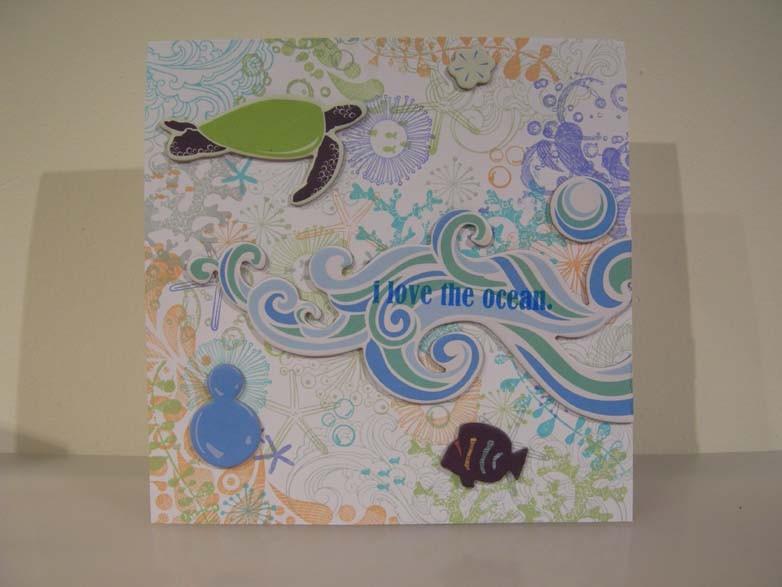 I love the ocean card