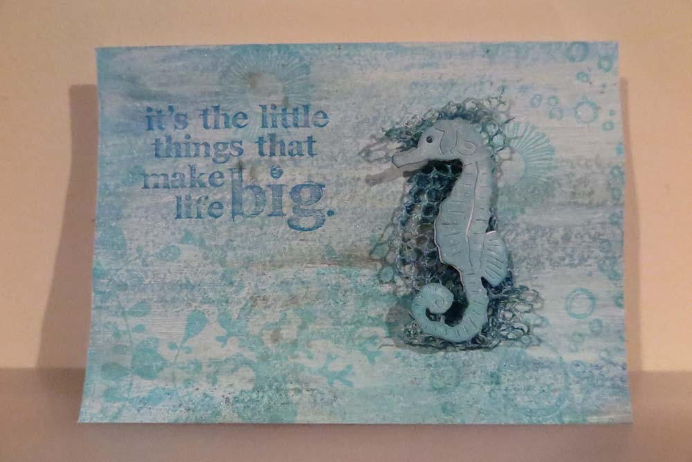 it's the little things that make life big Card
