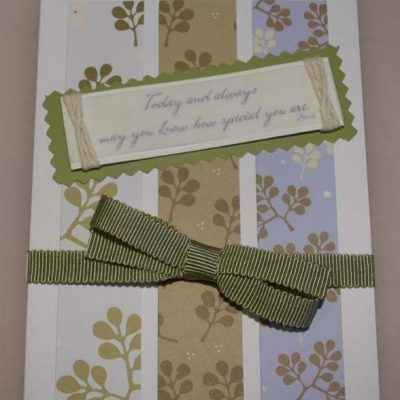 """Today and always may you know how special you are"" Card"