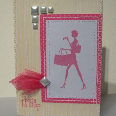 Born to shop Card