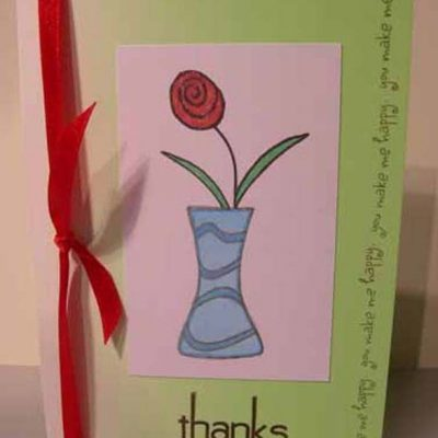 thanks you make me happy Card