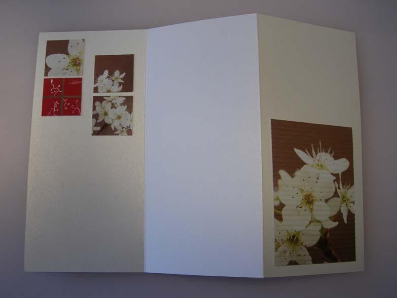 Tri-fold flowers Card inside