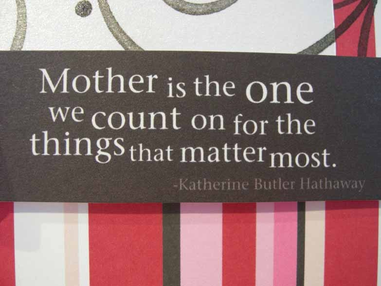 Mother is the one Card