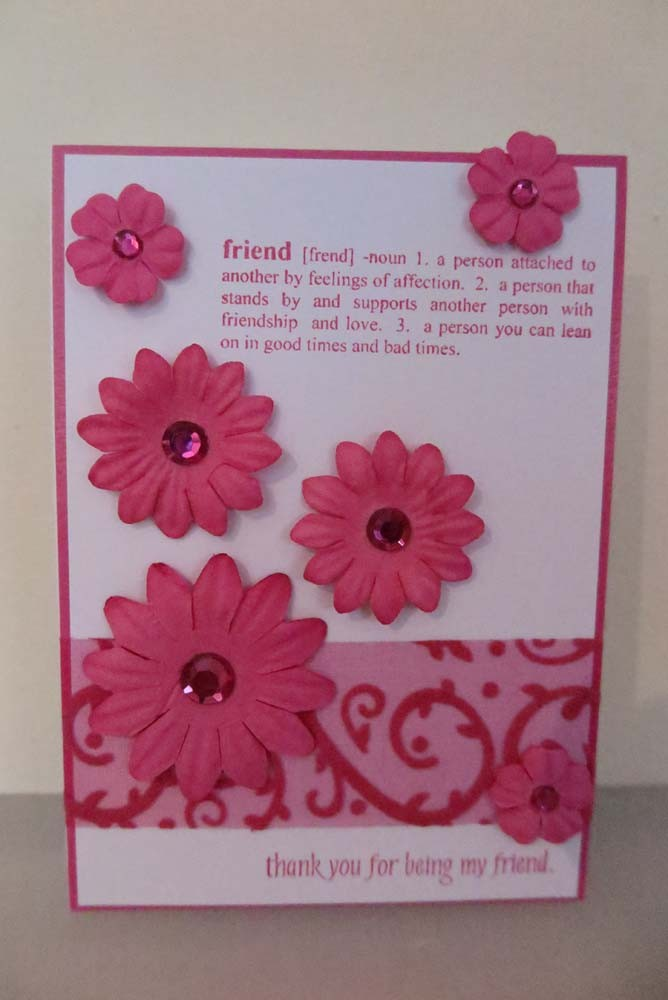 thank you for being my friend Card