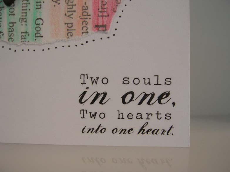 Two hearts into one heart Card