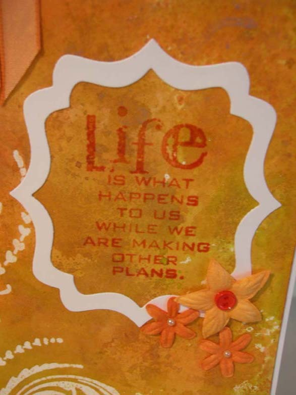 Life is what happens to us Card