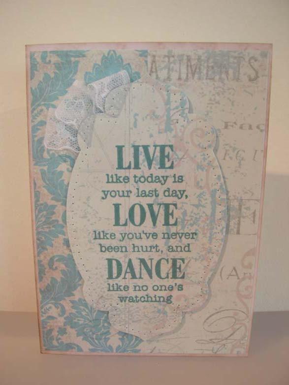 Live Love Dance Card
