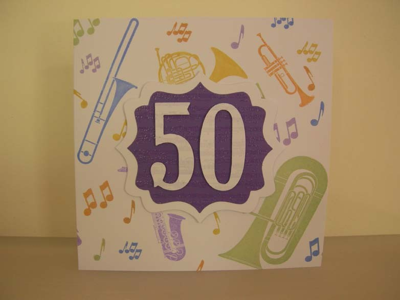 Happy 50 Birthday tri fold Card
