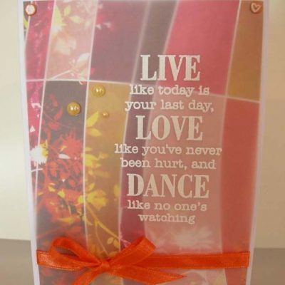 Live Love Dance Card