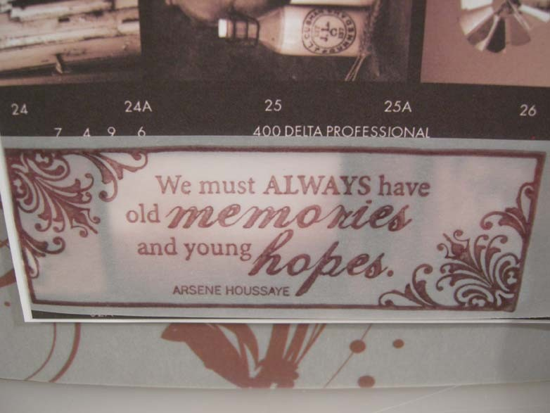 old memories - young hopes Card