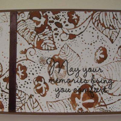 May your memories bring you comfort Card