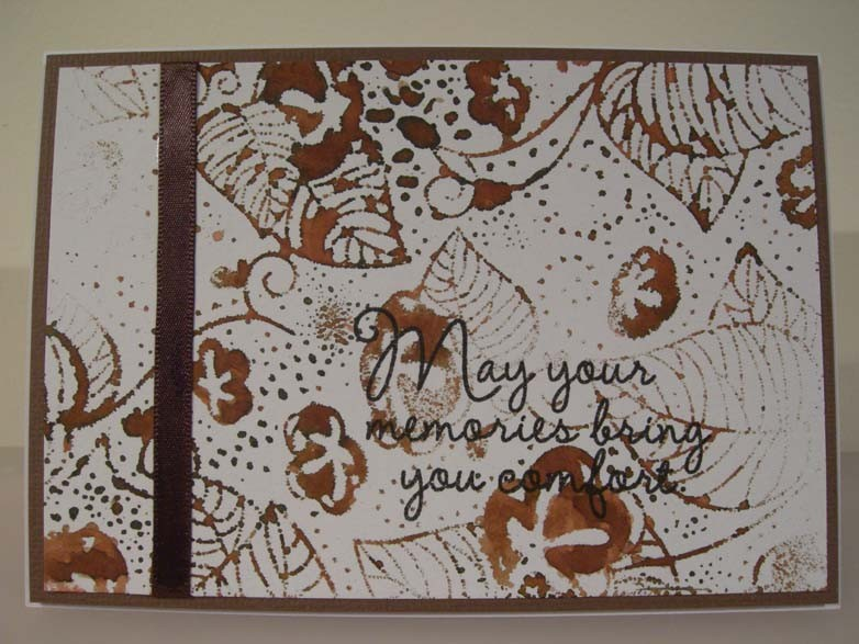 May your memories bring you comfort Card