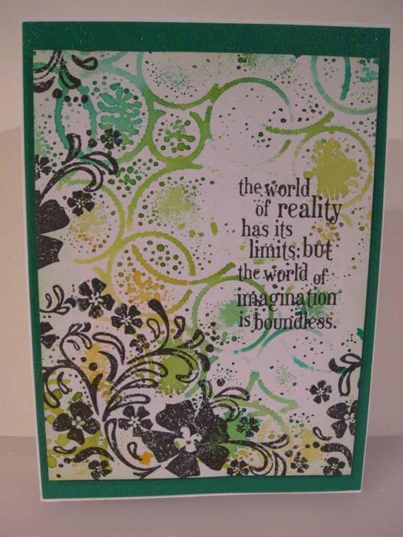 World of imagination Card