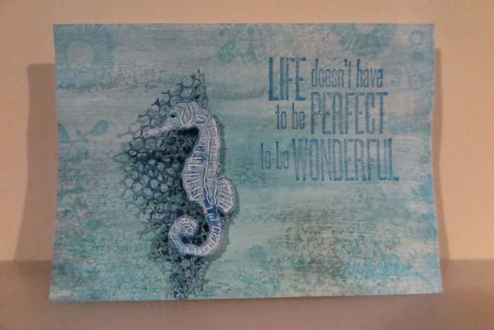 Life doesn't have to be perfect Card