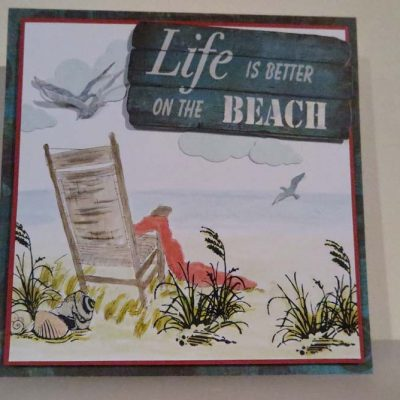 Life is better on the Beach Card
