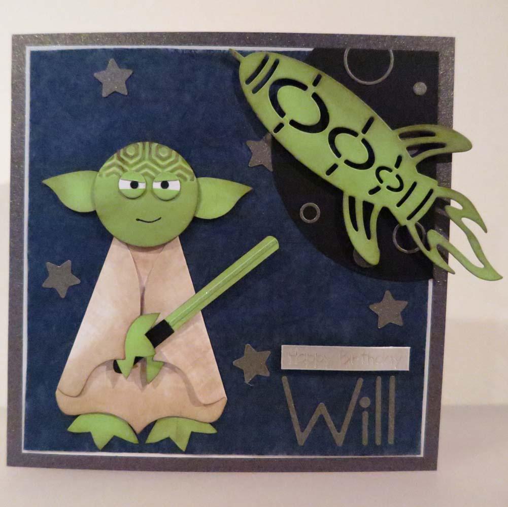 Yoda Happy Birthday Card Nuts On Shells